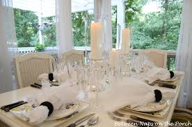 elegant table settings. Light, Elegant Table Setting With Mercury Glass Centerpiece Settings I