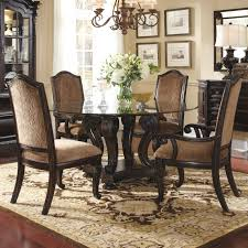 round glass dining room table sets. furniture. round glass dining table with carved dark brown wooden base plus chair on room sets t