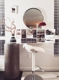 white makeup organizer vanity countertop wall mounted bleach la with regard to mount prepare 35
