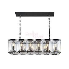 rh harlow crystal rectangular chandelier loading zoom
