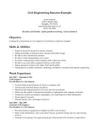 Civil Engineering Technician Resume Extraordinary Resume Resume Objective Examples Electrical Engineering Sample