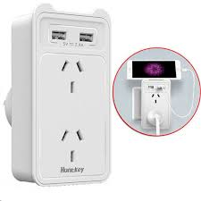 huntkey sac207 2 sockets wall charger with 2 usb charging ports usb output 5v 2 4a 2 4amps or 2 4 a 12watts or 12w