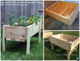 elevated garden bed plans. More Than 20 DIY Raised Garden Bed Ideas Instructions [Free Plans] From Cinder Block Elevated Plans P