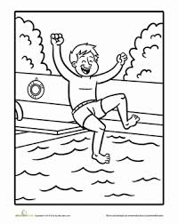 Swimming Coloring Page Coloring Pages For Kids Coloring Pages