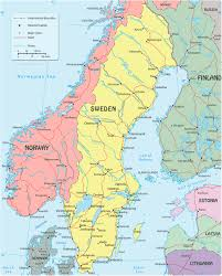 map sweden  travel europe