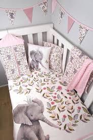 pink elephant boho crib