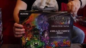 Dc Comics Dice Masters War Of Light Unboxing Dc Comics Dice Masters War Of Light Collectors Box