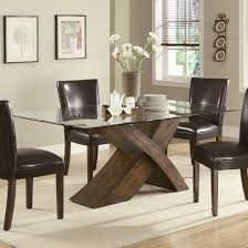 Modern Glass Kitchen Table Stunning Glass Dining Table And Chairs On Dining Room With Table