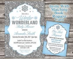 Snowflake Baby Shower Invitations Winter Wonderland Baby Shower Invitation Snowflake Baby Shower