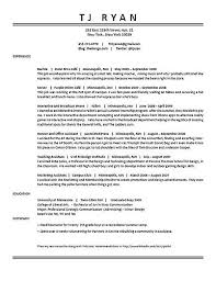 resume of waitress cover letter examples for waitress