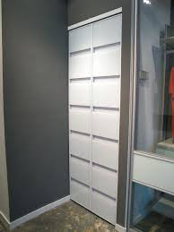 modern bifold closet doors awesome 4 panels glass sliding