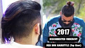 Topknot Hair Style 2017 disconnected undercut and men bun hairstyle top knot 7655 by wearticles.com