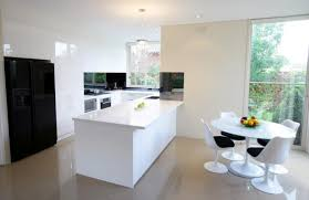 Freedom Furniture Kitchen Stools Kitchen White Neolith Kitchen Benchtop Closed To Black Metal Bar