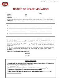 Lease Violation Form Lease Violation Notice Extra Strong Version