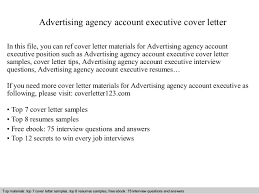 Account Executive Cover Letter Samples Advertising Agency Account Executive Cover Letter