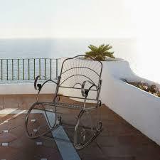 outdoor wrought iron rocker chair porch