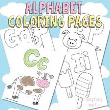 Adorable coloring pages for all letters of the alphabet! Free Printable Alphabet Coloring Pages Easy Peasy And Fun