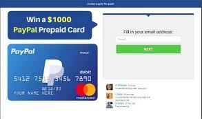 Use a second paypal account Free 1000 Paypal Gift Card Visa Gift Card Prepaid Card