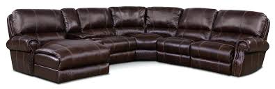 dartmouth 6 piece power reclining sectional with 2 reclining seats american signature leather sofa american signature