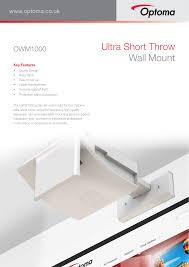 Sturdy Design Co Ultra Short Throw Wall Mount Manualzz Com