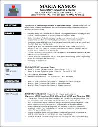 Teacher Resume Template Free Mesmerizing Teachers Resume Template Elementary Teacher Resume Examples