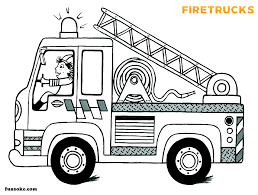 This is great for the children's. Fire Truck Coloring Page Printable Funsoke