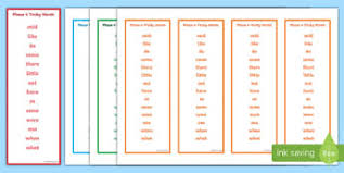 Bookmark Template Word Bookmark Templates Primary Resources