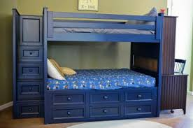 winchester full over bunk with captain drawers Winchester Full Stair Bunk w/Captain Drawers - Kids