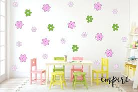 flower wall decor small flowers wall decal stylized flower decals girls wall decor girls vinyl decals flower wall decor