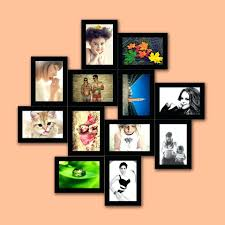 Wall Photo Frame Set White Triple Picture x Frames Collage India. Wall  Picture Frames Collage Moel x Mount For Living Room India.