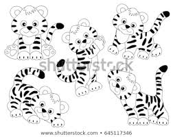 baby tiger clipart black and white. Wonderful Tiger Vector Black And White Cute Tigers Tiger Cub Baby Tiger Clipart With Baby Tiger Clipart Black And White A