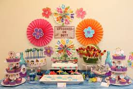 Swimming Pool Party Ideas With Dessert Table Chic Party Ideas