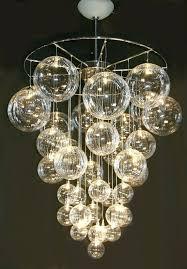 bubble light chandelier astounding bubble light floating glass bubble ball chandelier light fixture