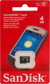 Купить <b>карту памяти</b> SanDisk microSD <b>4Gb</b> class 4 в Москве: цена ...