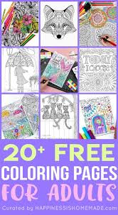 Welcome to our supersite for interactive & printable online coloring pages! Free Adult Coloring Pages Happiness Is Homemade