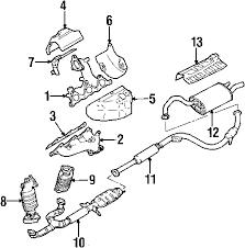 parts com® mitsubishi galant exhaust components oem parts diagrams 2003 mitsubishi galant gtz v6 3 0 liter gas exhaust components