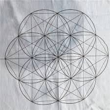 Crystal Grid Patterns New Crystal Grid Cloth 48 Cotton Sacred Geometry Healing 48x48 EBay