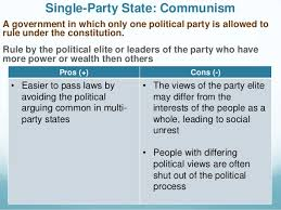 Communism Pros And Cons Chart Forms Of Government