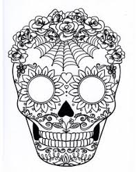Nice Inspiration Ideas Sugar Skull Color Pages Day Of The Dead