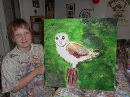 owl parsley pie art club children kids painting cl gallery creative club business