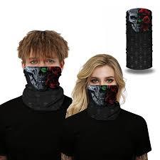 Man Woman Face Scarf Printed <b>Seamless</b> Windproof <b>Multifunctional</b> ...