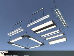 office ceiling lamps set 1 ad 3d lamps