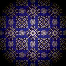 Blue And Gold Design Blue And Gold Royal Wallpaper With Stock Vector