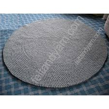 solid grey round felt ball rug in various sizes regarding gray plans 9