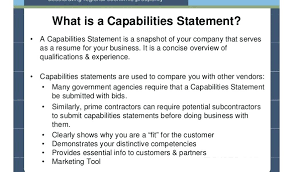 Capabilities Statement Template Capability For Government ...