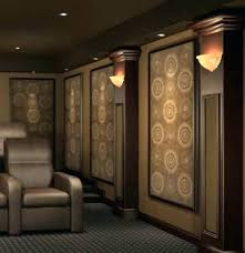 home theater acoustic wall panels. home theater wall panel simple sconces make acoustic panels to baffle theatre lighting a