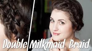 Frisuren F R D Nne Haare Double Milkmaid Braid Flechtfrisur