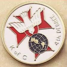 new gift 4th fourth degree kofc k of c knights of columbus catholic auto badge