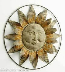 metal sun wall decor flower rustic