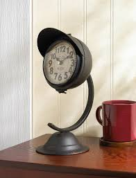 rustic clock table table metal clock table rustic clock metal desk clock small